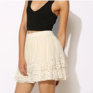 URBAN OUTFITTERS KIMCHI BLUE LACE/SEQUIN MINI